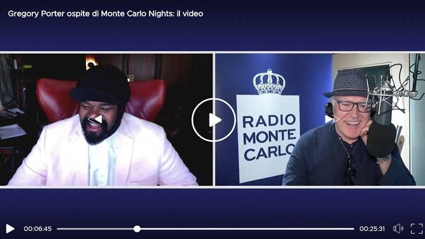 Gregory Porter ospite di Radio Monte Carlo: guarda il video!